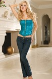 Exquisite satin strapless corset with boning