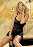 Stretch Mesh Chemise with Matching G-String