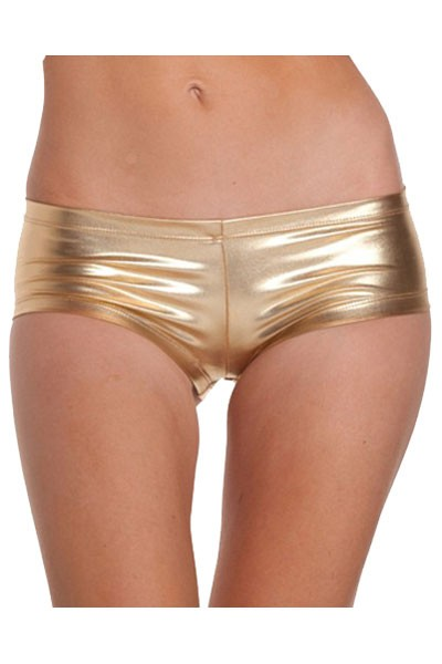 Captivating Royal Golden Gold Silky Smooth Satin Silhouette Panty in hipster stretch design style panty