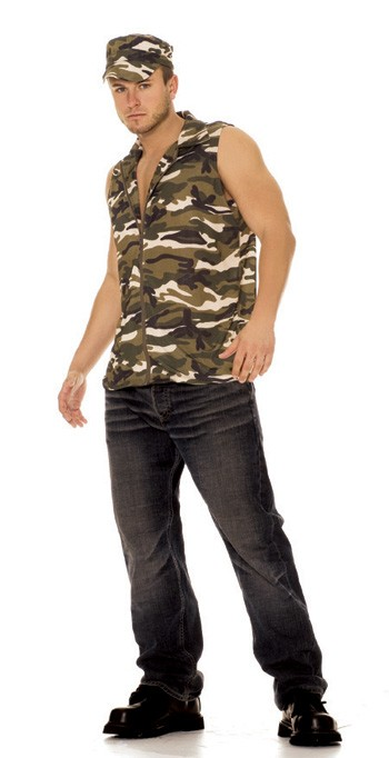 Sexy Camouflage mens costume army Uniform - Sexy Military Costume