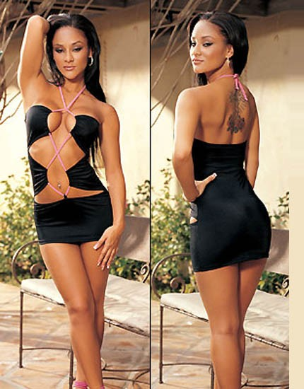 Black in color sexy Babydoll Open cut in front and back less design