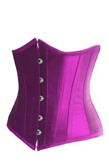 Elegant Strapless Purple Corset with beautiful buttons in front hourglass shape with c-string