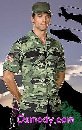 Sturdy Tough Mens Military Camouflage Costume Design