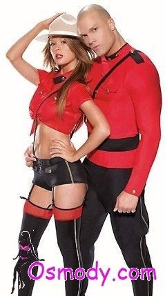 Masculine Red military design style mens costume