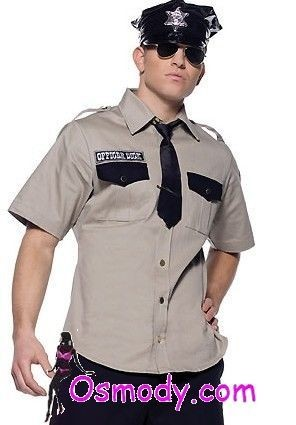 Great flesh browned cop design style mens costume