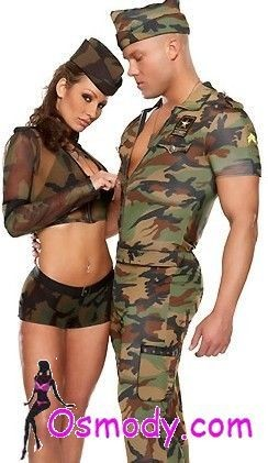 Military camouflage design style mens costume