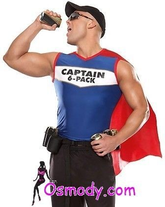 Captain Superman Men's Design Costume