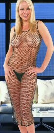 Crochet Beaded Dress. Black as shown. One size fits most.