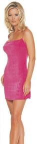 Slinky Mini Dress.  One size - Fuchsia - Royal Blue - Black - 88% nylon - 12% spandex.