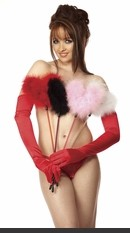 Marabou Feather Heart Ticklier Sexy Lingerie for Women, Costume, Bra, Panties, sleeepwear, corsets, bodysuits, teddies, robes and more.