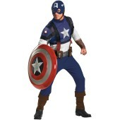 Captain America Movie - Captain America Prestige Adult Costume Be loyal to nothing except the dream in this high quality Captain America Movie - Captain America Prestige Adult Costume which includes a patriotic style, screen-printed jumpsuit with zipper b