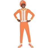 Yo Gabba Gabba - DJ Lance Adult Costume He's everybody's favorite Nickelodeon character! Get ready for some Gabba Gabba fun with this cool costume! The Yo Gabba Gabba - DJ Lance Adult Costume includes an orange shirt that features white and yellow stripin