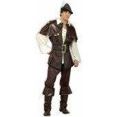 Robin Hood Designer Collection Adult Costume A magnificent, fully finished costume with great attention to design and detail the Designer Collection Robin Hood is an impressive costume. The Robin Hood costume includes a brown faux leather & faux suede ves