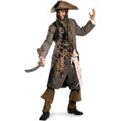 Pirates Of The Caribbean - Captain Jack Sparrow Theatrical Adult Costume Look like you stepped right off of the set of Pirates Of The Caribbean: On Stranger Tides with the top quality Pirates Of The Caribbean - Captain Jack Sparrow Theatrical Teen / Adult