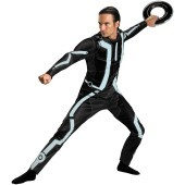 Tron Legacy - Deluxe Adult Costume Emulate the witty and heroic Sam Flynn in the Tron Legacy - Deluxe Adult Costume which includes: A jumpsuit with reflective print and sonic weld patch (on the back).