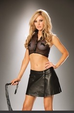 Sexy Break away Leather Skirt Sexy Lingerie for Women, Costume, Bra, Panties, sleeepwear, corsets, bodysuits, teddies, robes and more. Break away leather skirt w/ snap closure.