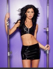 Basic Black Vinyl Mini Skirt Adult Costumes - Hot Selection of Sexy Adult Costumes, Adult Halloween Costumes, Adult Costume Lingerie, Fantasy Costumes, Party Costumes and more. Back Zipper Opening.