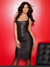 The Executive Leather Pencil Skirt Adult Costumes - Hot Selection of Sexy Adult Costumes, Adult Halloween Costumes, Adult Costume Lingerie, Fantasy Costumes, Party Costumes and more. Back Zipper Openings At Waist And Knee.