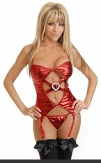 """Heart's Desire"" Cami-Garter Set Metallic cami-garter with adjustable garters and matching thong. Sexy Lingerie for Women, Sexy Costumes, Bra, Panties, sleepwear, corsets, Bustier, teddies, robes and more."