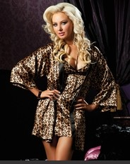 Classic Pinup Luxurious Robe Set