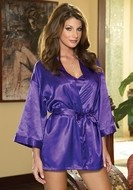 Purple Robe and Chemise Set