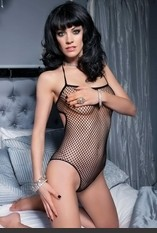 Halter Fishnet Teddy