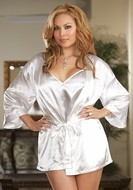 White Robe and Chemise Set Plus Size