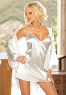 White Robe, Gown and Chemise Set
