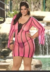 Plus Size Hearts Collection Spice it Up Mini Dress