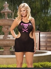 Plus Size Hearts Collection Punk Me Mini Dress