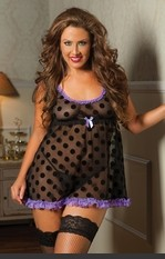 Plus Size Gorgeous Galore Sexy Babydoll