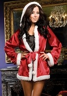 Santa's Chemise , Gown and G-string with Robe Set