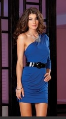 Microfiber one shoulder dress