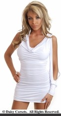 Baby White Slinky Mini Dress
