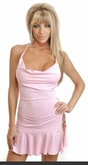 Sexy Lingerie for Women, Sexy Costumes, Bra, Panties, sleepwear, corsets, Bustier, teddies, robes and more. Cowl front mini dress with side slit and o-ring detail.