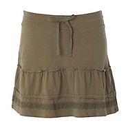 A stylish comfortable holiday essential this khaki jersey skirt from Mantaray is made from soft-touch cotton-rich jersey and features decorative frilling and crochet detailing and a snug-fitting drawstring tie at the waist.