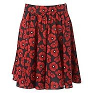 A sweet woman's skirt from Red Herring with drape design and poppy print with a zip fastening for comfort am to pm.