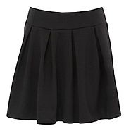 Go cute and classic in this black short Ponte skirt from Red Herring with the girly pleated design. This little black skirt offers a comfortable elasticated waist.