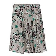 This white cartwheel print skirt from Mantaray is a light and feminine design for the warmer weather, keeping cool and stylish with a floral print, pleat detailing and pink stitch embroidery.