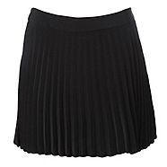 A cute short black woman's skirt from H! by Henry Holland that comes in the classic iron pleat design, with a flat waistband and zip fastening.