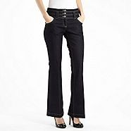 A shining example of fabulous smart-casual wear, these dark blue jeans from Star by Julien Macdonald's fabulous range of women's jeans feature a host of stunning design details including two layers of fabric and a line of rhinestones along their back pock