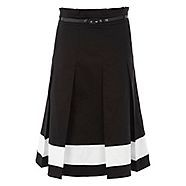 Perfect for work or play, this gorgeous midi skirt from Jonathan Saunders/EDITION makes an instant impression. In bold black with contrasting white along the hem, not to mention striking pleated detail this is perfect for smartening up in style. With styl