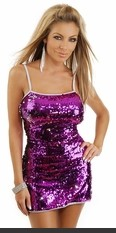 Sexy sequin mini dress with sexy strappy open back and thong.