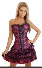 Strapless corset dress with side zipper closure. Sexy Lingerie for Women, Costume, Bra, Panties, sleepwear, corsets, bodysuits, teddies, robes and more.