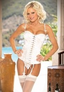 Reversible Bridal Corset with Matching Thong
