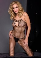 Halter Ring Fishnet Bodystocking