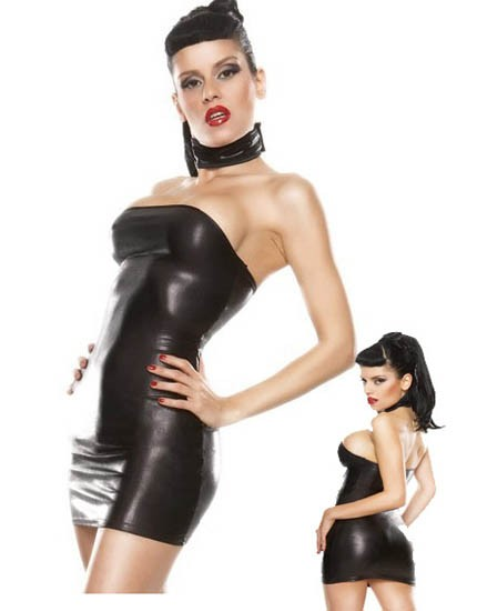 Sexy Leather Babydoll comes with Neck wear . Learn More